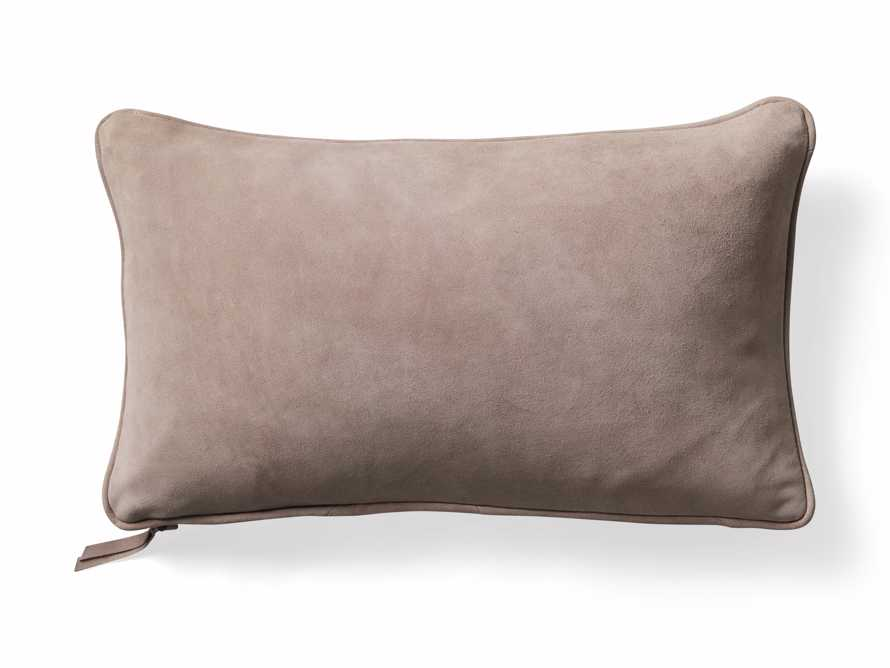 Suede Lumbar Pillow in Rose, slide 6 of 7