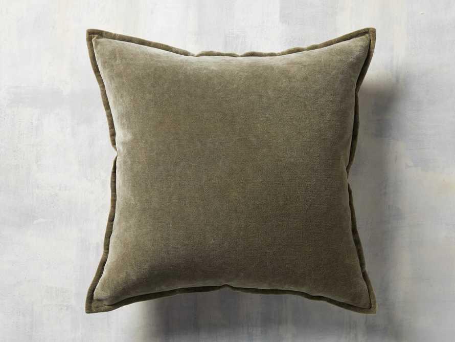 Stone Washed Velvet Basil Square Pillow, slide 3 of 5