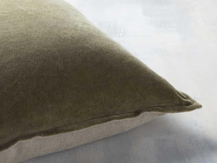 Stone Washed Velvet Basil Square Pillow, slide 2 of 5
