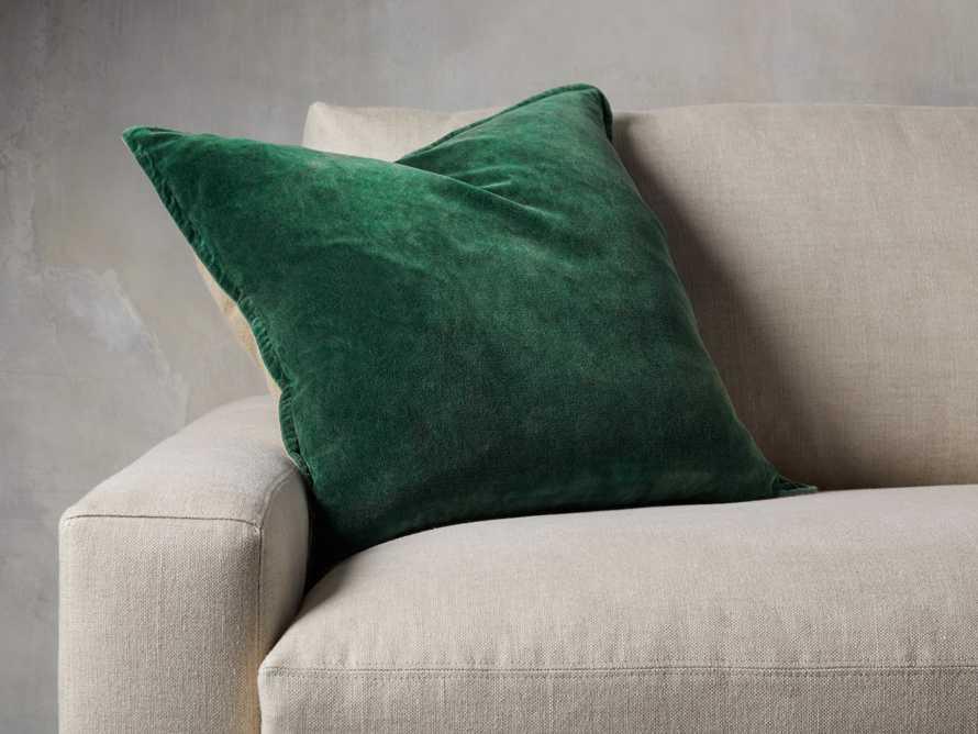 Stone Washed Velvet Pillow in Green