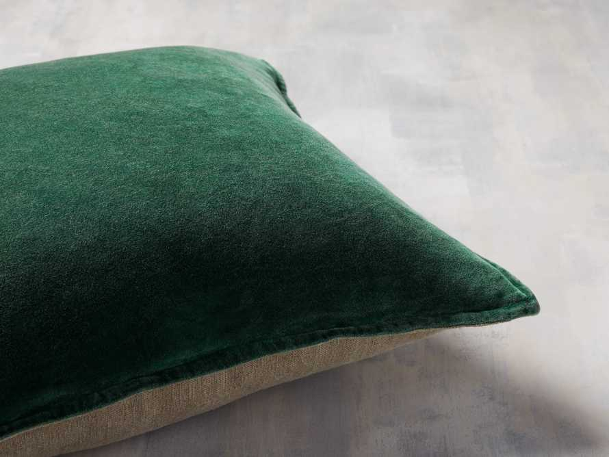Stone Washed Velvet Pillow in Green