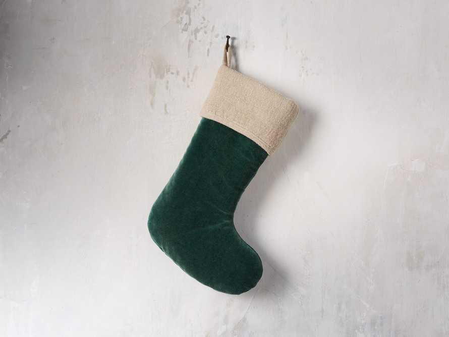 Stone washed Velvet Stocking in Green