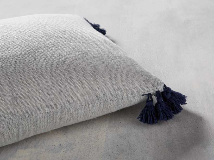 Stone Washed Linen Lumbar Pillow in Mist