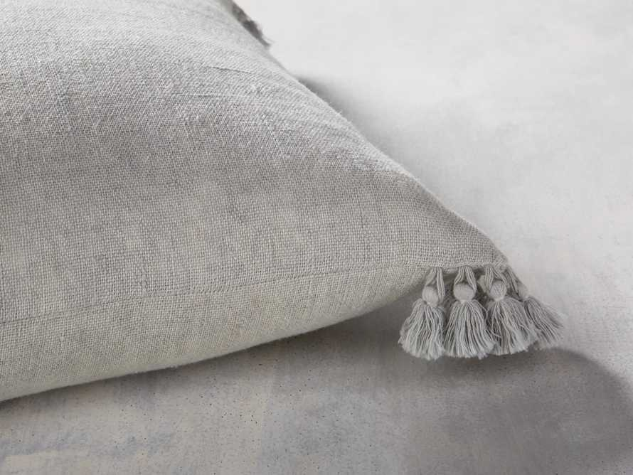 Stone Washed Linen Pillow in Mist
