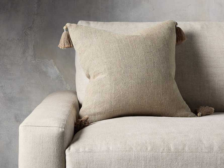 Stone Washed Linen Pillow in Natural, slide 1 of 3