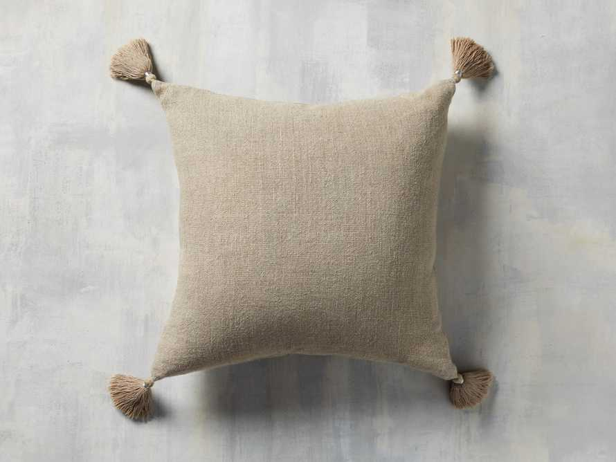 Stone Washed Linen Pillow in Natural, slide 3 of 3