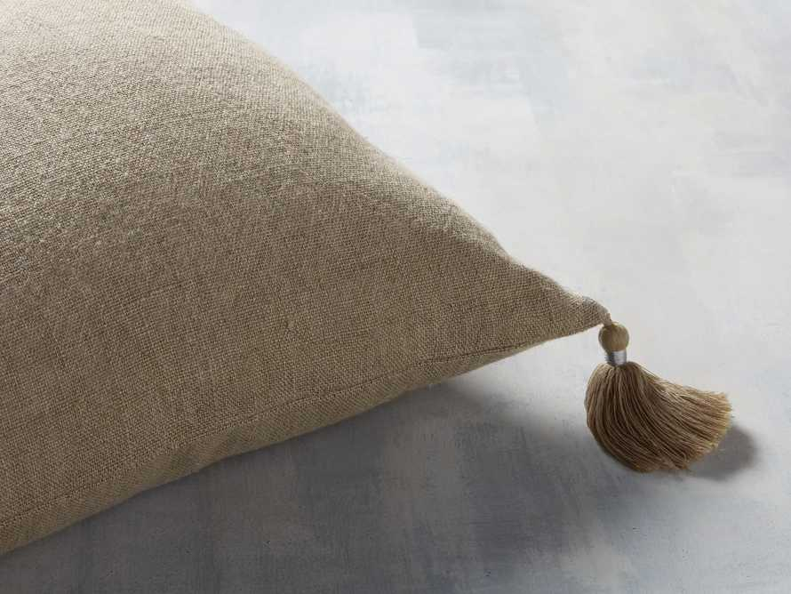 Stone Washed Linen Pillow in Natural, slide 2 of 3