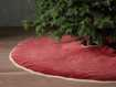 Stone washed Velvet Tree Skirt in Red