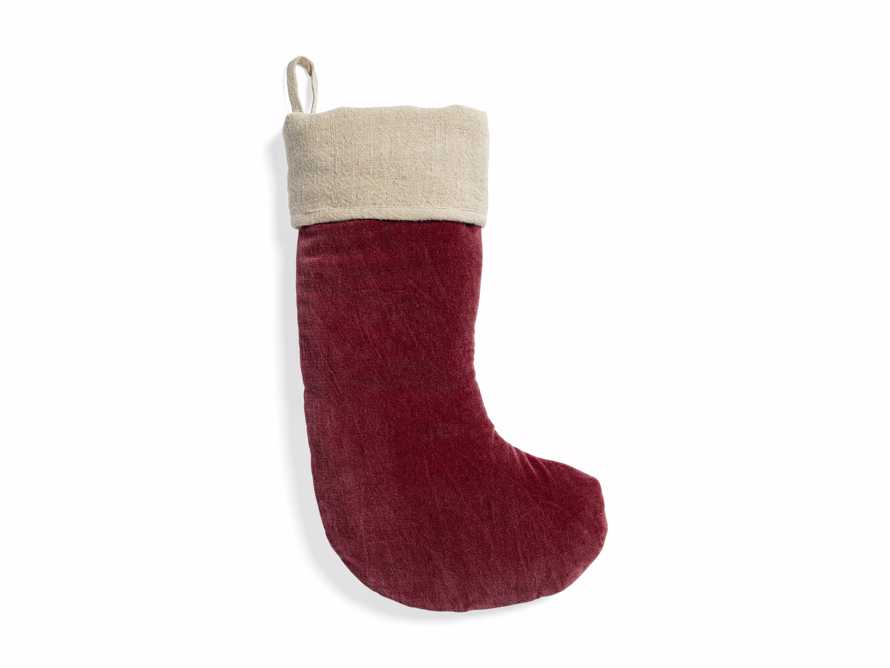 Stone washed Velvet Stocking in Red