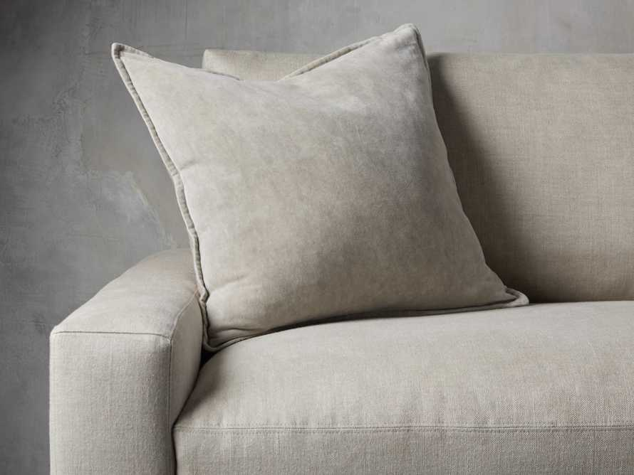 Stone Washed Velvet Pillow in Stone