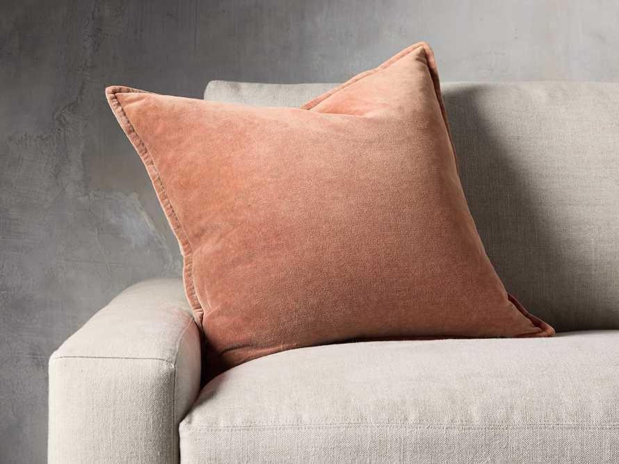 Stone Washed Velvet Terracotta Square Pillow, slide 1 of 6