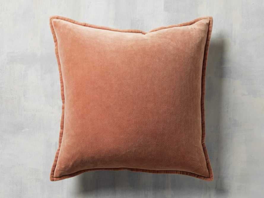Stone Washed Velvet Terracotta Square Pillow, slide 3 of 6