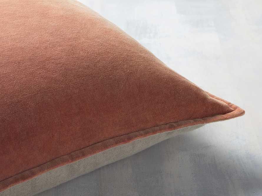 Stone Washed Velvet Terracotta Square Pillow, slide 2 of 6