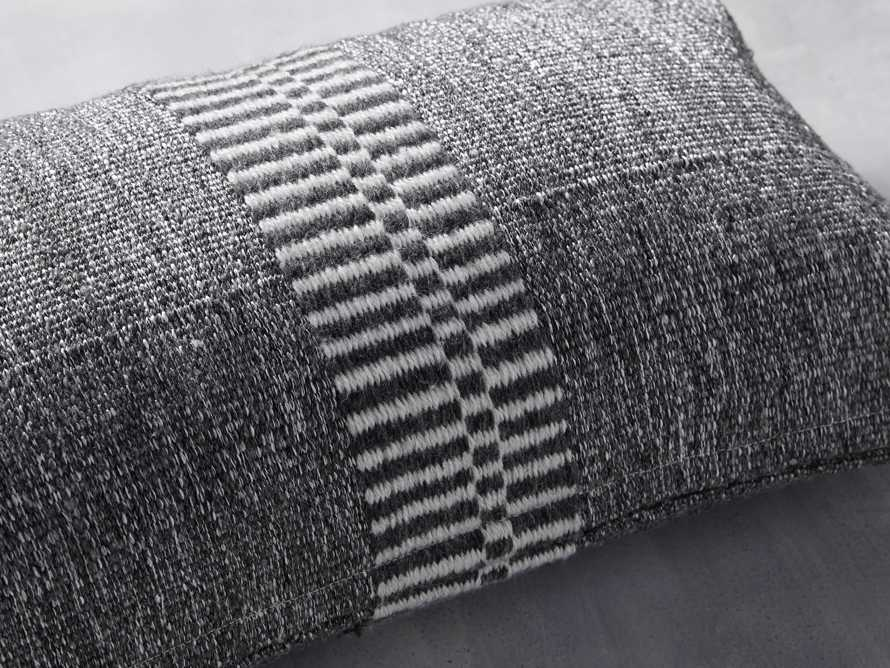 Tannager Stripe Outdoor Pillow in Grey, slide 5 of 5