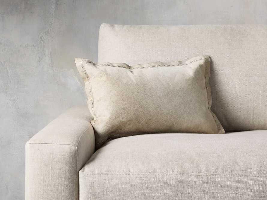 Hide Stitch Lumbar Pillow in Tan, slide 1 of 4