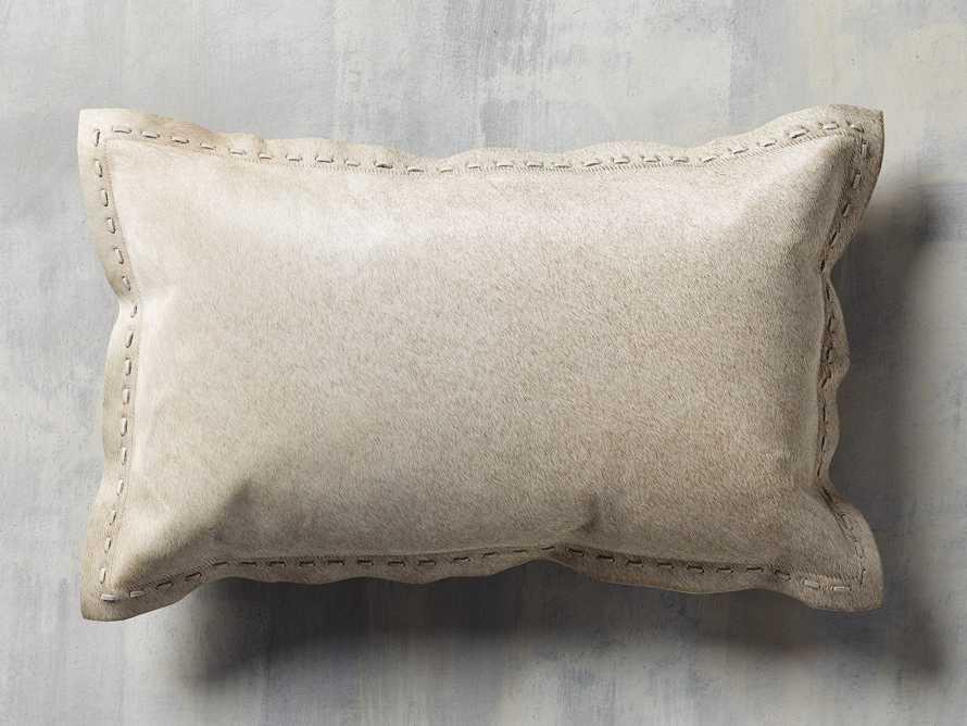 Hide Stitch Lumbar Pillow in Tan, slide 3 of 4