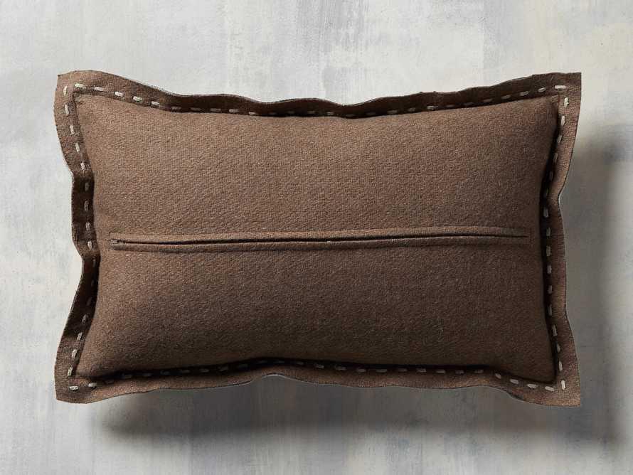 Hide Stitch Lumbar Pillow in Tan, slide 4 of 4