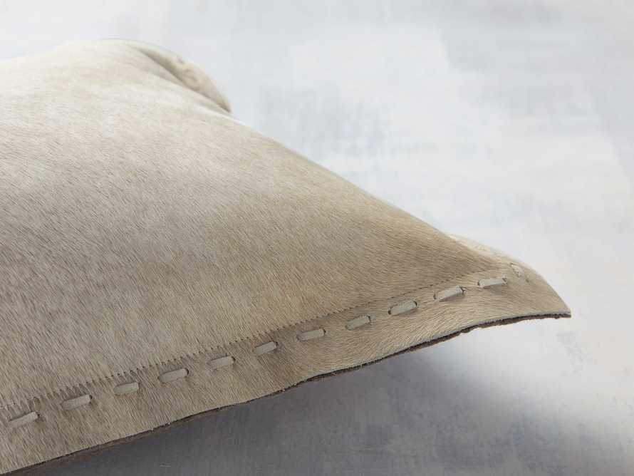 Hide Stitch Lumbar Pillow in Tan, slide 2 of 4