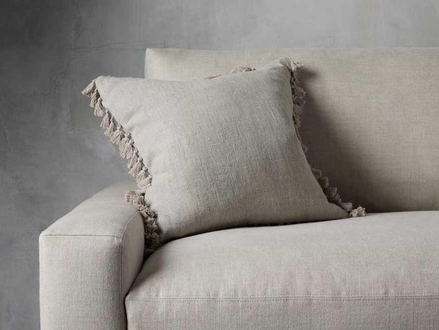 Tasseled Linen Pillow in Grey