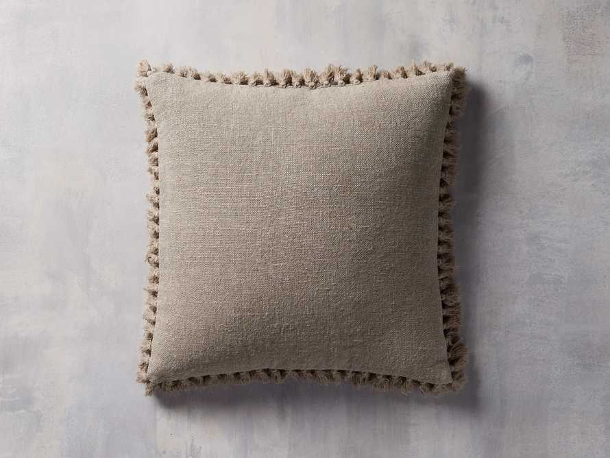 Tasseled Linen Pillow in Natural