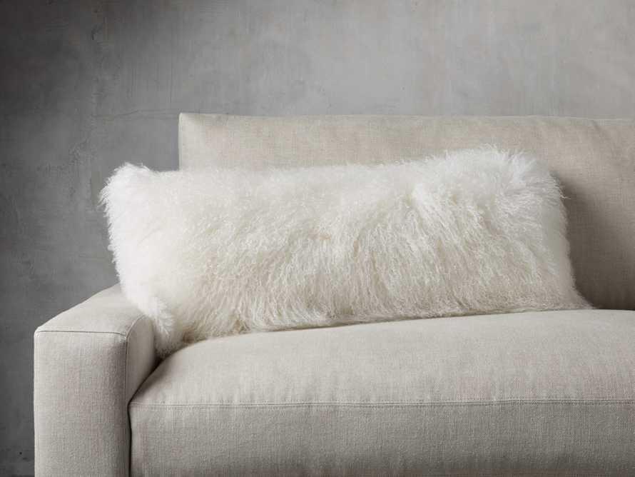Tibetan Longwool Lumbar Pillow in Ivory