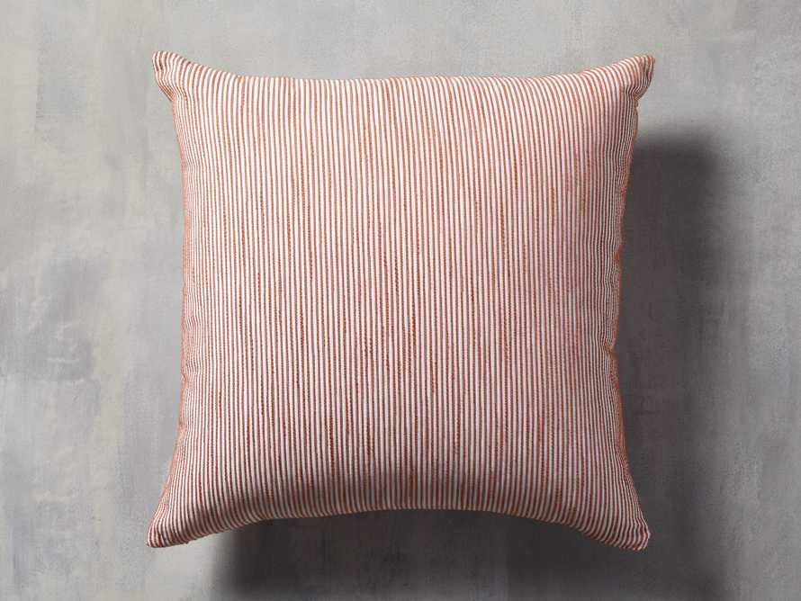 Ticking Striped Outdoor Pillow, slide 1 of 4