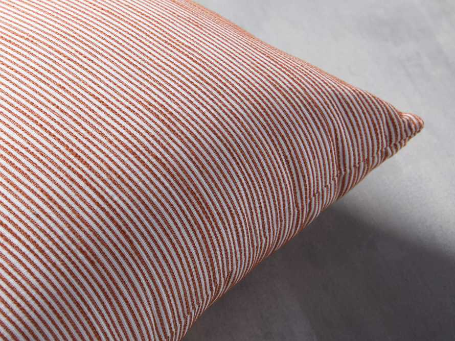 Ticking Striped Outdoor Pillow, slide 2 of 4