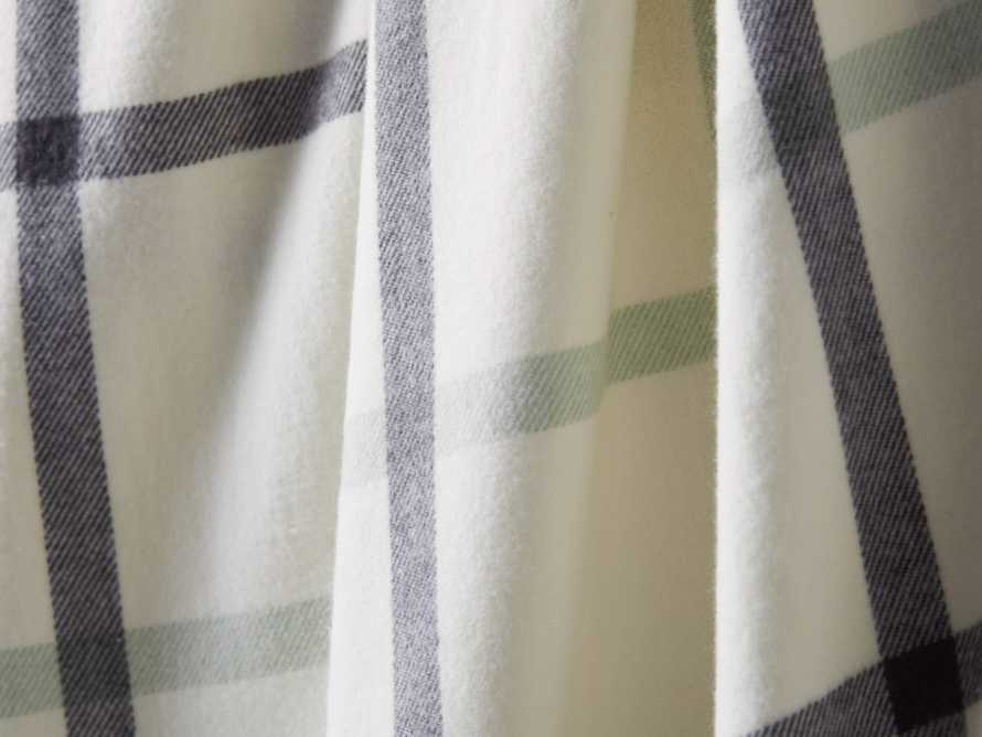 Tattersall Plaid Throw in Charcoal & Seaglass, slide 2 of 3