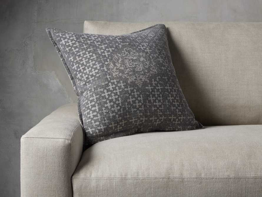 STONE WASHED VELVET PRINTED PILLOW COVER IN GREY, slide 4 of 4