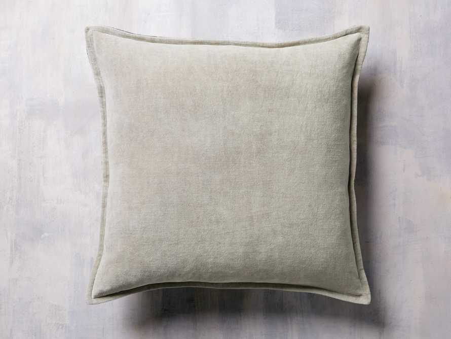 STONE WASHED VELVET PRINTED PILLOW COVER IN GREY, slide 2 of 4