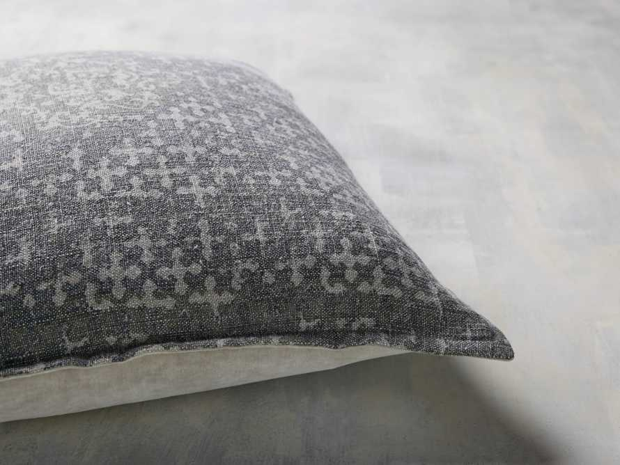 STONE WASHED VELVET PRINTED PILLOW COVER IN GREY, slide 3 of 4
