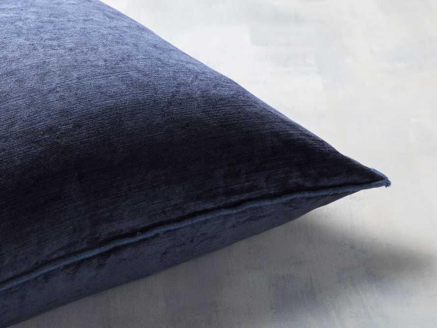 Velvet Hemstitch Blue Square Pillow, slide 2 of 3