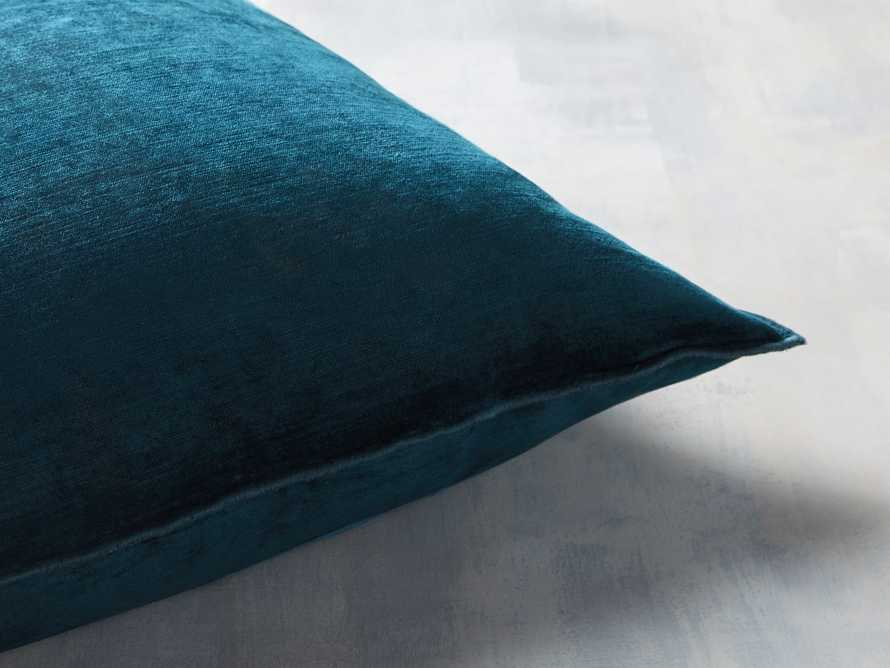 Velvet Hemstitch Jade Square Pillow, slide 2 of 5