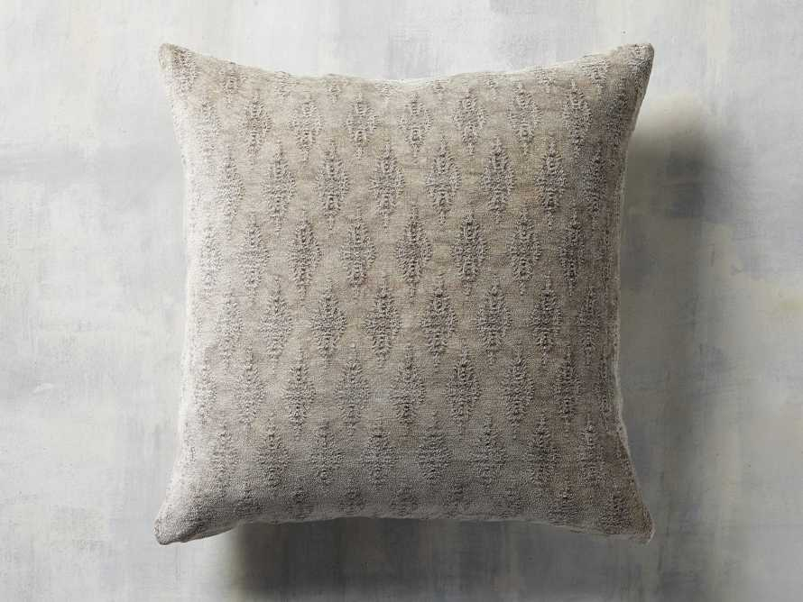 Velvet Jacquard Pillow in Tan, slide 3 of 3