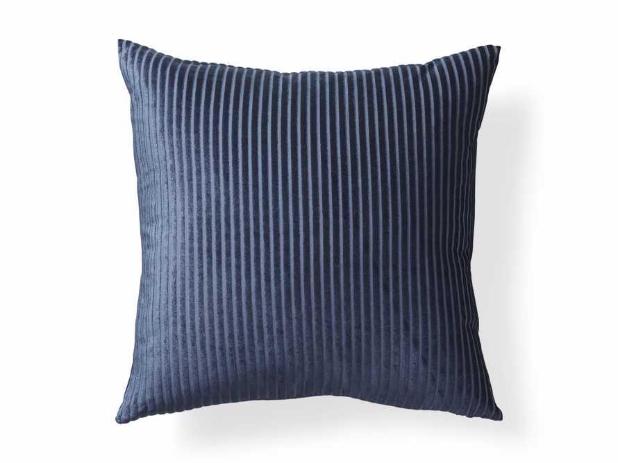 Velvet Wide-Stripe Pillow Cover Indigo, slide 4 of 4