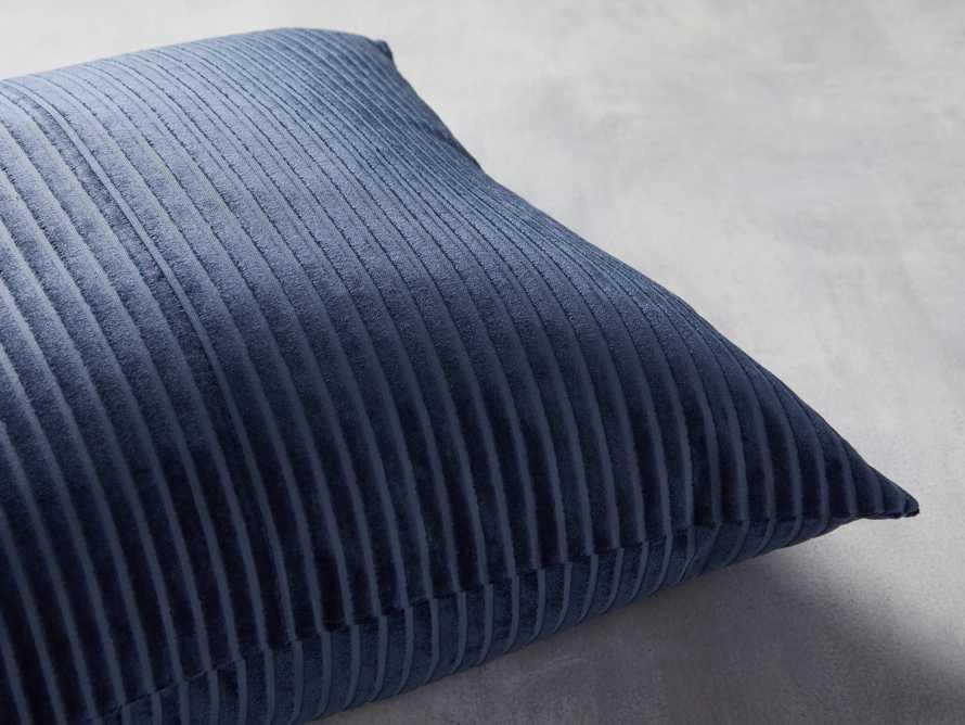 Velvet Wide-Stripe Pillow Cover Indigo, slide 2 of 4