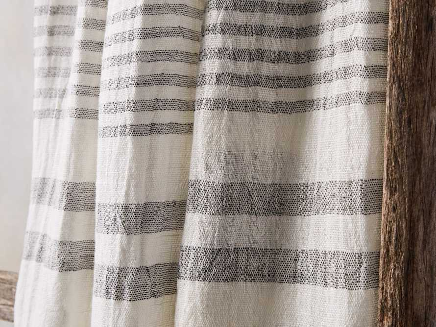 Ivory French Stripe Linen Throw