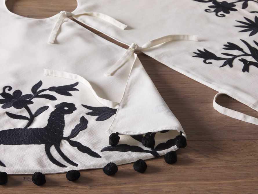 Black Woodland Animals Tree Skirt, slide 3 of 3