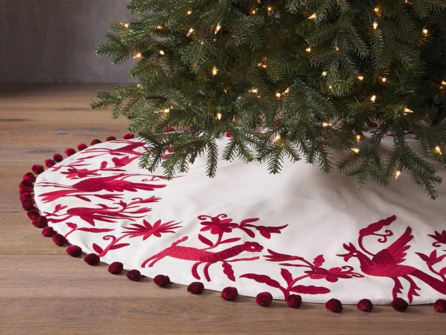 Red Woodland Animals Tree Skirt, slide 1 of 4