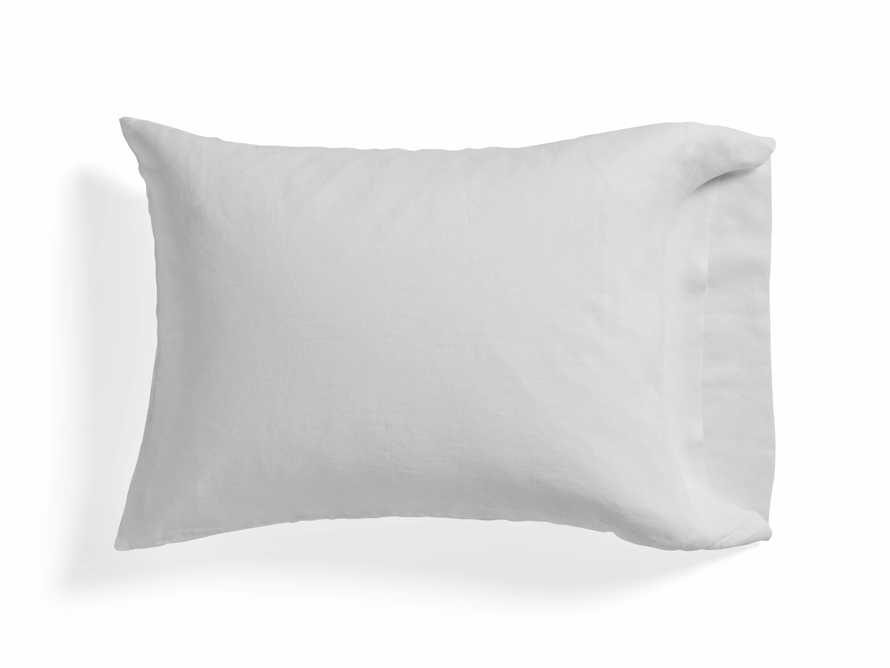 Linen Standard Pillow Cases in White (Pair)