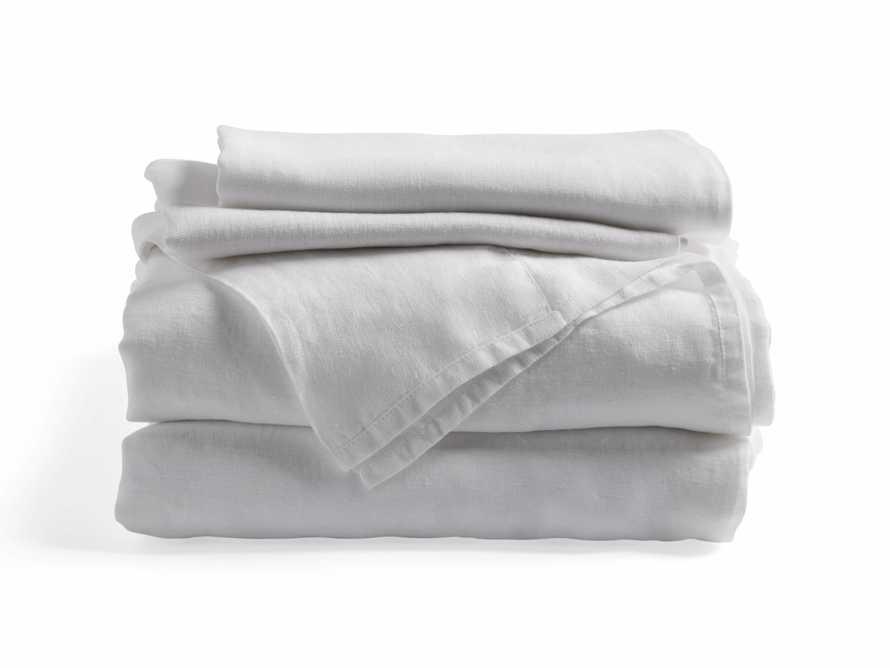 Linen Full Sheet Set in White