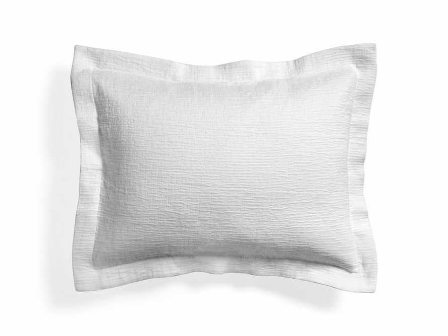 Matelasse Standard Sham in White