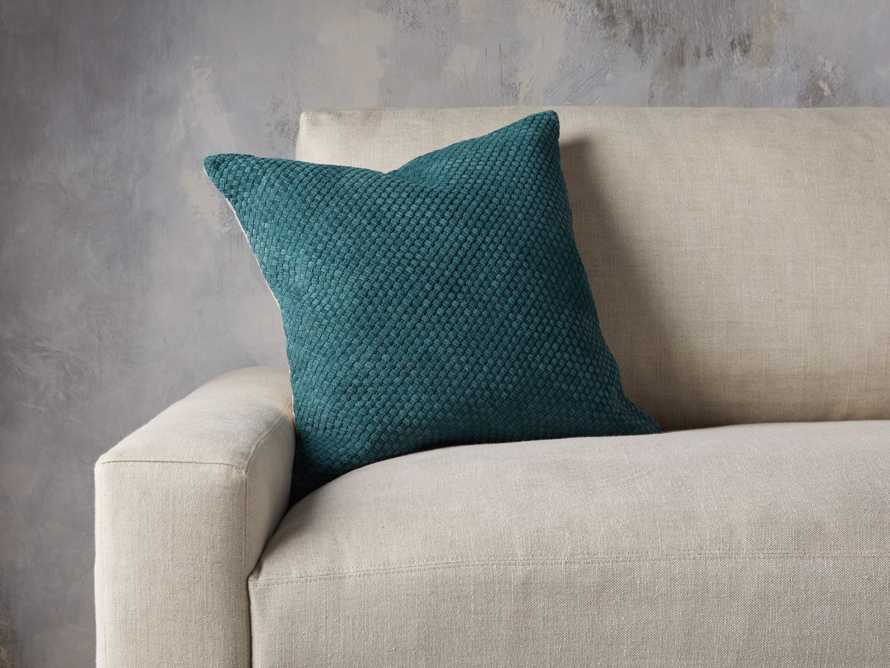 Woven Suede Pillow Cover in Mediterranean, slide 4 of 5