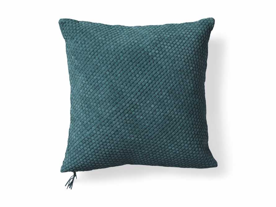 Woven Suede Pillow Cover in Mediterranean, slide 5 of 5