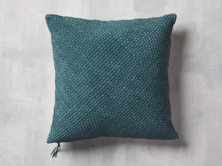 Woven Suede Pillow Cover in Mediterranean, slide 1 of 5