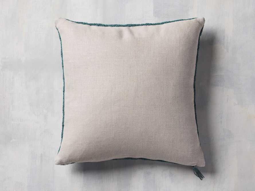 Woven Suede Pillow Cover in Mediterranean, slide 2 of 5