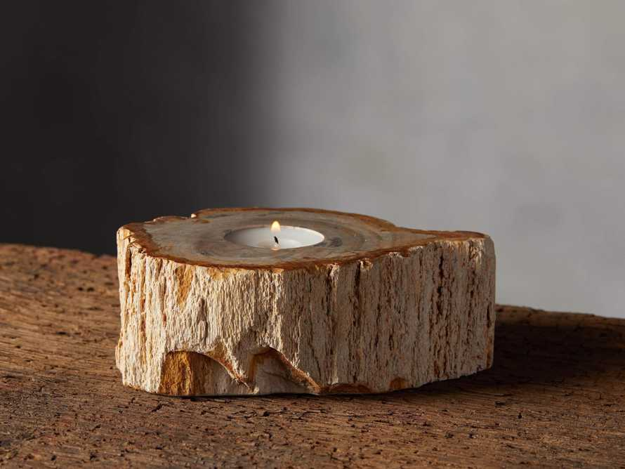 "Petrified Wood 3"" Tealight Holder, slide 1 of 8"