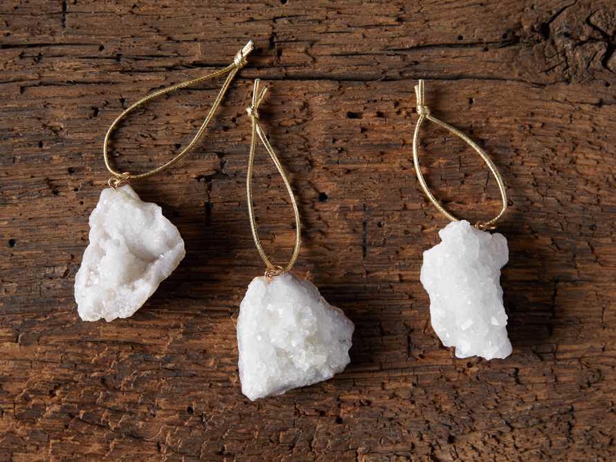 Geode Crystal Ornaments (set of 3), slide 3 of 5