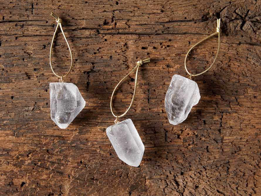 Quartz Crystal Ornaments (set of 3), slide 3 of 5