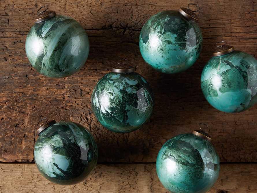 Celestial Ornament in Green (Set of 6), slide 3 of 4